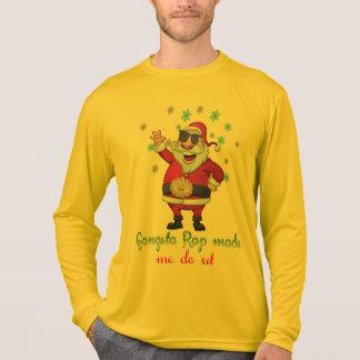 gangsta rap made me do it funny christmas design T-Shirt
