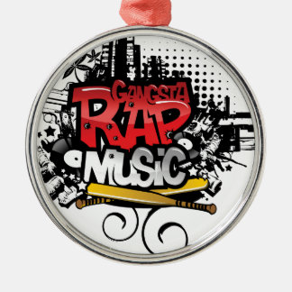 Gangsta Rap Music Metal Ornament
