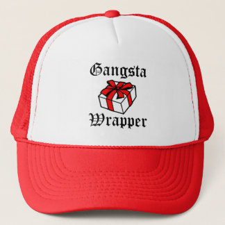 Gangsta Wrapper funny women's Christmas hat