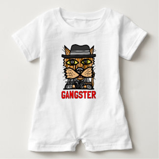 """Gangster"" Baby Romper Baby Bodysuit"