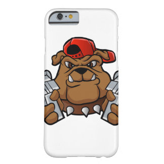 gangster bulldog  with pistols barely there iPhone 6 case