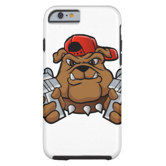 gangster bulldog  with pistols tough iPhone 6 case