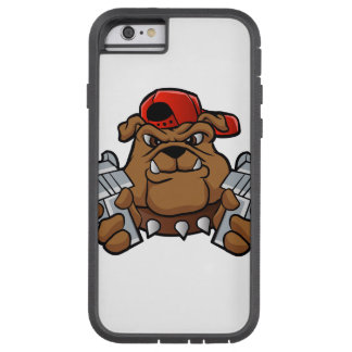 gangster bulldog  with pistols tough xtreme iPhone 6 case