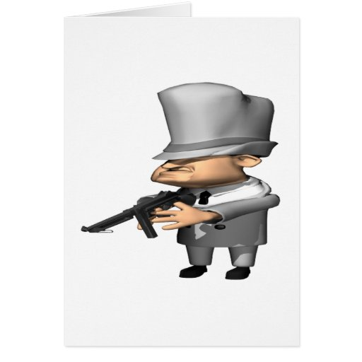 Gangster Greeting Cards