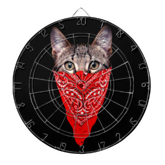 gangster cat - bandana cat - cat gang dartboard