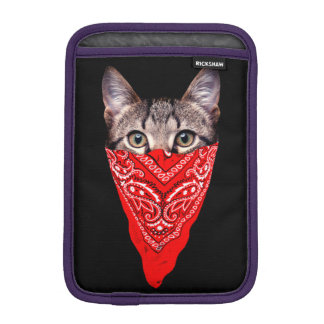 gangster cat - bandana cat - cat gang iPad mini sleeve