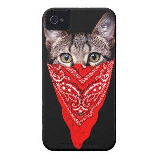 gangster cat - bandana cat - cat gang iPhone 4 Case-Mate case