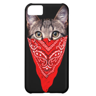 gangster cat - bandana cat - cat gang iPhone 5C case