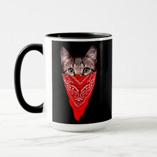 gangster cat - bandana cat - cat gang mug