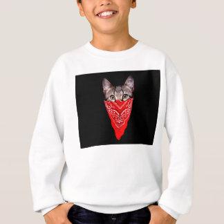 gangster cat - bandana cat - cat gang sweatshirt