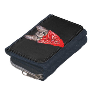gangster cat - bandana cat - cat gang wallets