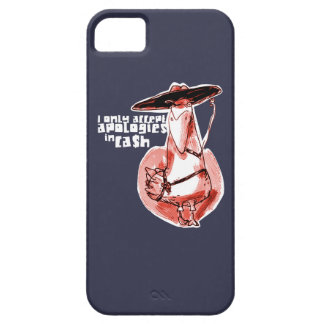 gangster duck cartoon style funny illustration iPhone 5 case