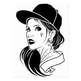 Gangster Girl Postcard