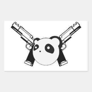 Gangster Panda Sticker