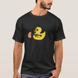 Gangster Rubber Ducky Machine Gun Tee Shirt