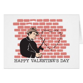Gangster Valentine's Day Greeting Card