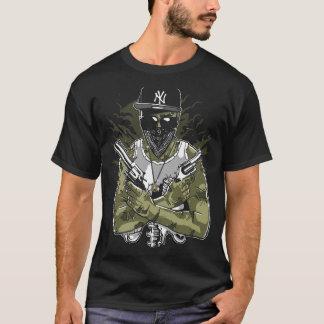 Gangster Zombie Mens Black T-Shirt