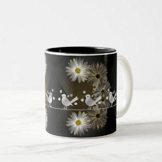 Gänseblümchen twitter Two-Tone coffee mug