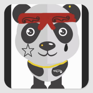 Gansta panda sticker