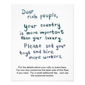 Gap between rich and poor is too great word art 11.5 cm x 14 cm flyer