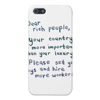 Gap between rich and poor is too great word art iPhone 5/5S case