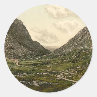 Gap of Dunloe, Killarney, County Kerry Classic Round Sticker