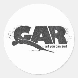 Gar Surfboards Classic Round Sticker