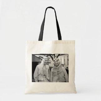 """Gar Wood and Orlin Johnson - Vintage """"Autographed"""" Bag"""