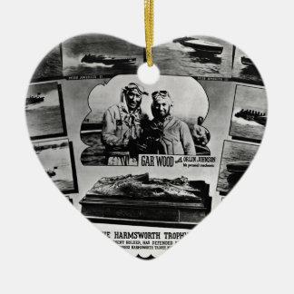 Gar Wood Vintage Speedboat Racing Miss Americas Ceramic Ornament