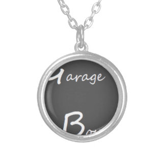 Garage Boys Logo Silver Plated Necklace