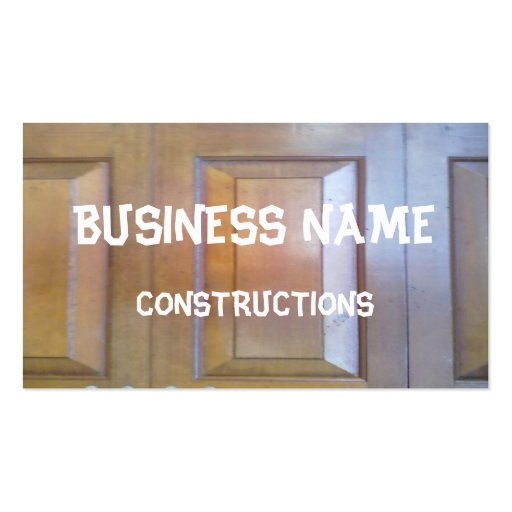 Garage door business card templates