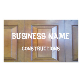 Garage door pack of standard business cards