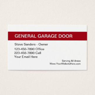 Garage Door Service Business Card