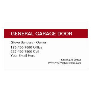 Garage Door Service Pack Of Standard Business Cards