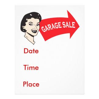 Garage sale 21.5 cm x 28 cm flyer