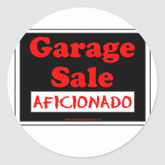Garage Sale Aficionado Round Sticker