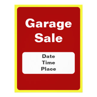 Garage Sale And Yard Sale Announcement Flyers