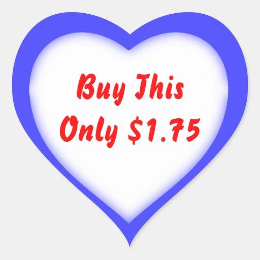Garage Sale And Yard Sale Heart Shape Price Label Sticker