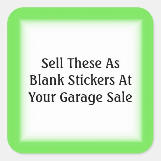 Garage Sale And Yard Sale Price Labels Square Sticker
