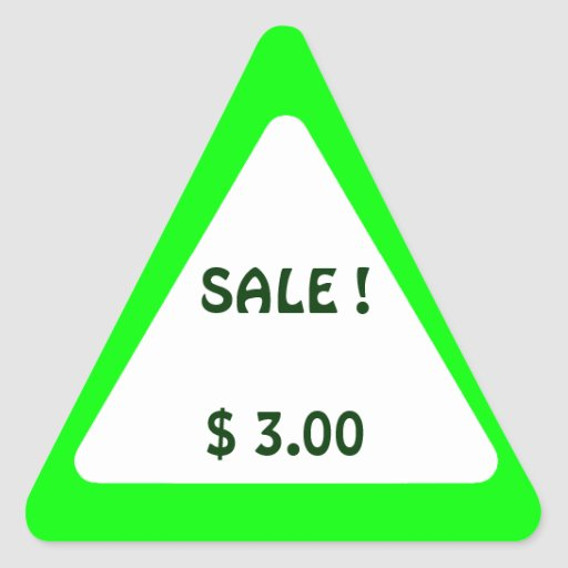 Garage Sale And Yard Sale Price Labels Stickers