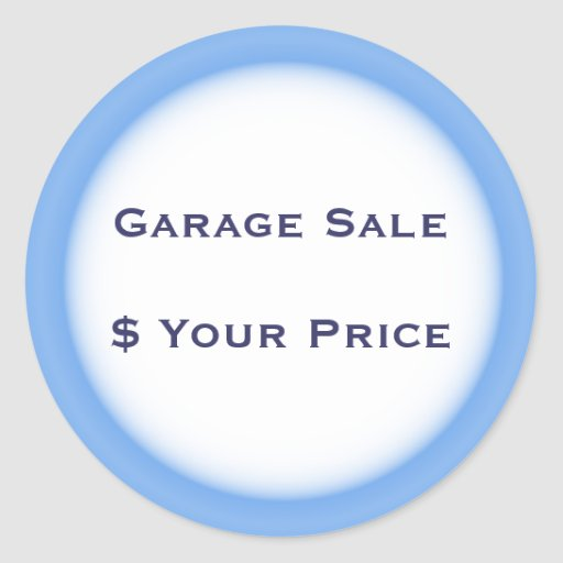 Garage Sale And Yard Sale Price Labels Round Sticker