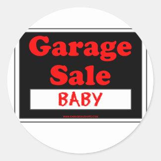 Garage Sale Baby Classic Round Sticker