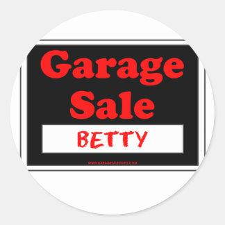 Garage Sale Betty Stickers