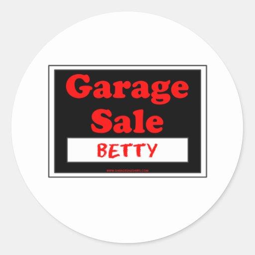 Garage Sale Betty Sticker