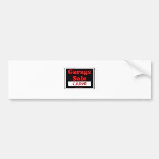 Garage Sale Carni Bumper Sticker