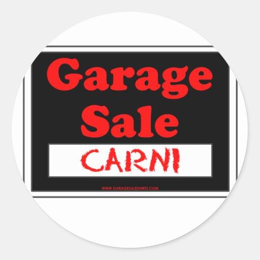 Garage Sale Carni Round Sticker