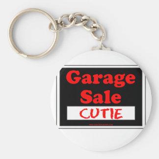 Garage Sale Cutie Basic Round Button Key Ring