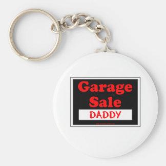 Garage Sale Daddy Basic Round Button Key Ring