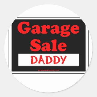 Garage Sale Daddy Round Sticker