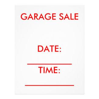 Garage Sale Flyer red